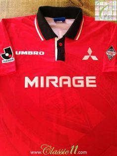 Official Umbro Urawa Red Diamonds home football shirt from the 1996 & 1997 seasons
