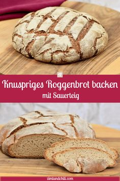 Bake crispy rye bread – recipe with sourdough – cinnamon & chilli – Typical Miracle Healthy Homemade Bread, Healthy Bread Recipes, Baking Recipes, Rye Bread Recipes, Tomato Bread, Whole Grain Bread, Sourdough Bread, Bread Baking, Bakery