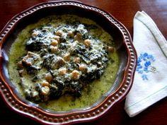 Lamb-Spinach in Yogurt
