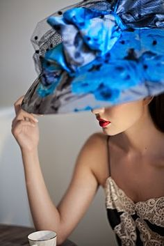 looks like the flowers are printed on mylar...awesome hat