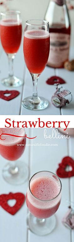 With just two ingredients this Strawberry Bellini is the ultimate celebration cocktail!