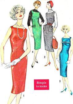 1950s Dress Pattern Simplicity 2614 Square by NeenerbeenerKnits