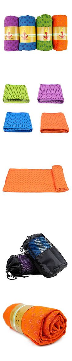 Brand Pioneer Yoga Towel Non Slip,Ultra Absorbent,Soft-Perfect Microfiber Hot/ Skidless/ Bikram Yoga Mat Towel for Fitness, Exercise,Sports & Outdoors + Travel Bag