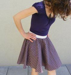 Kolové sukně šiju hrozně ráda, jednak jsou velice jednoduché na výrobu, a jednak…