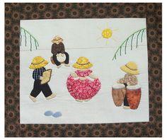 Fiche technique patchwork appliqué. Danseuse de maloya. Ile de la Réunion. Patchwork applique pattern.