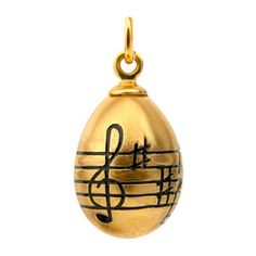 Music Egg Pendant Gold, £56, now featured on Fab.