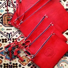 Hand dyed Red clutches