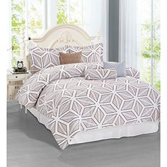 Brinley Home 7 pc Printed Comforter Set *** AMAZON Great Sale