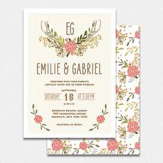 Faire Part de Mariage  EMILIE par bonjourpapershop sur Etsy, $60.00