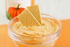 Pumpkin Cheesecake Dip - but instead of graham crackers I'm planning on dipping ginger bread cookies in this!