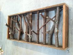 Hand Crafted, Upcycled, Tree, Branch Coat Rack, Shelf, jewelry holder, wall decor on Etsy, Sold