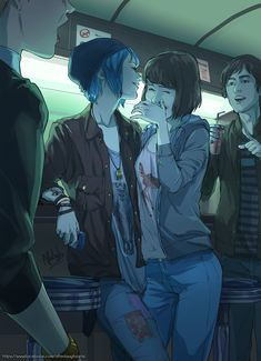 Max and Chloe Life is strange in the style of Tamen De Gushi Manhua (Their Story) Life Is Strange Fanart, Life Is Strange 3, Life Is Strange Wallpaper, Yuri Anime, Anime Naruto, Character Inspiration, Character Art, Lesbian Art, Lesbian Pride