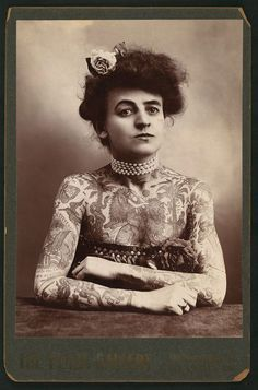 From Flavorpill on vintage tattoos: We tend to think as tattoos as a relatively new cultural phenomenon — but actually, that's not at all true. In fact, scientists have discovered at least one generously tattooed iceman, dating from the fourth to fifth millennium BC.