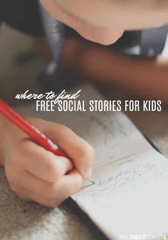 Where to find free social stories for kids with autism #autism #socialskills #socialstories #autismparenting