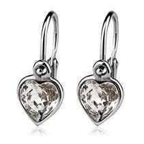 Dětské náušnice stříbrné - srdíčka,  SWAROVSKI® el., Crystal Swarovski, Cufflinks, Accessories, Wedding Cufflinks, Jewelry Accessories