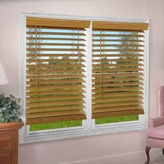 DEZ Furnishing 2 in Faux Wood Blind Light Oak 30 W x 72 L in * Learn more home decor by visiting the image link. Horizontal Blinds, Faux Wood Blinds, Cheap Curtains, Shades Blinds, Blinds For Windows, 5 W, Light Oak, Blackout Curtains, Home Decor Accessories