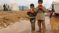 dec. 2014: Syrian children in refugee camp Bab al-Salam