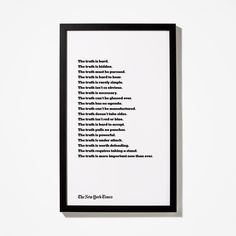Truth Text Poster