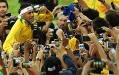 Neymar the shootout hero blasts Brazil to Olympic football gold against Germany Olympic Football, Rio Olympics 2016, Neymar, Brazil, Germany, Hero, Gold, Deutsch, Yellow