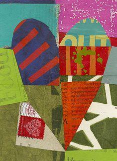 collage journeys: More Hearts Jane Davies Jane Davies, Motifs Textiles, Collage Techniques, Framed Prints, Canvas Prints, Collaborative Art, Heart Art, Art Plastique, Wood Print