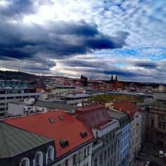 Beautiful clouds above Prague Prague, Times Square, Victoria, Clouds, Mansions, House Styles, Photography, Travel, Beautiful
