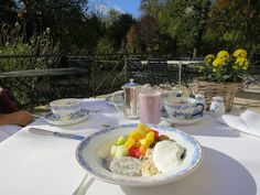 Breakfast with a view. Baden Baden honeymoon at Brenners Park Hotel.