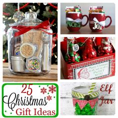 25 Easy and Fun Christmas Gift Ideas for neighbors and friends that are unique and sure to please. Many include free printable tags and cute sayings.