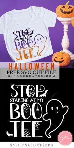 stop staring at my boo-tee free svg Halloween Vinyl, Halloween Silhouettes, Halloween Projects, Halloween Shirt, Halloween Ideas, Halloween Party, Cricut Vinyl, Svg Files For Cricut, Cricut Monogram