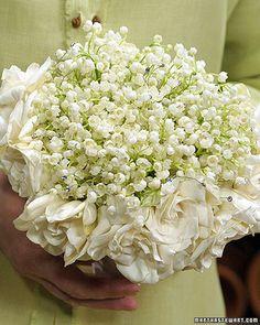 Wedding Bouquet and Boutonnieres - Martha Stewart Weddings Flowers