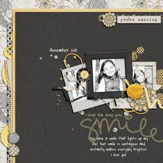 the layers of paper and elements in this layout are fabulous