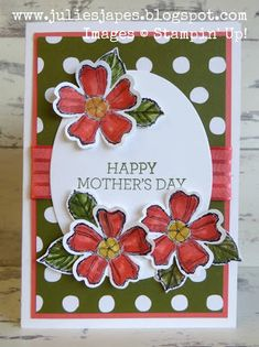 Julie Kettlewell - Stampin Up UK Independent Demonstrator - Order products Mother's Day - Part 2 Vintage Birthday Cards, Birthday Greeting Cards, Greeting Cards Handmade, Vintage Cards, Birthday Greetings, Happy Birthday, Diy Holiday Cards, Birthday Bouquet, Fathers Day Cards