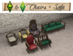 medieval furnituresims 4TSM to TS4: Sofa & Armchairs0View