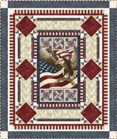 Flight of the Eagle Quilt - fits the Quilts of Valor guidelines.