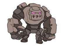 How to draw Clash of Clans Golem
