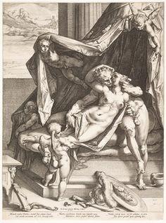 Art prints by Hendrick Goltzius - Mars and Venus