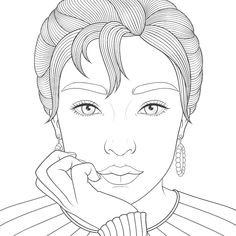 Sailor Moon Coloring Pages, Coloring Book Pages, Barbie Coloring, African Art Paintings, Face Lines, Line Drawing, Cool Drawings, Art Lessons, Line Art