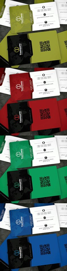 The EDGE business card is designed by tookaarts.com. four different colors, fully customizable, 8 CMYK psd files.