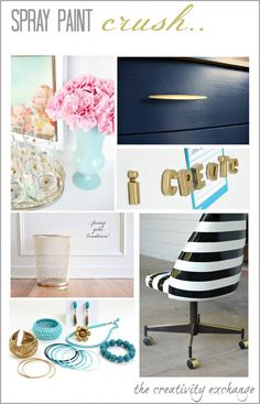 Round up of some of the best DIY spray paint projects found online {The Creativity Exchange}
