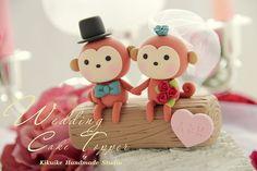 Wedding Cake Topper-love monkey by charles fukuyama, via Flickr