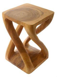 Double Twist Acacia Table