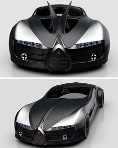concept cars The Bugatti Type has officially won our hearts! This concept car designed by Arthur B. Nustas revives the classic vintage Type coupe by the German automotive giant, c Luxury Sports Cars, Top Luxury Cars, Exotic Sports Cars, Cool Sports Cars, Exotic Cars, Bugatti Veyron, Bugatti Cars, Lamborghini Cars, Ferrari F80