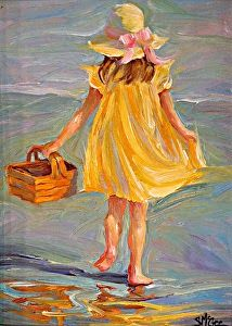 """The Yellow Dress II by September McGee Oil ~ 12 """"x Source by yolandatlam Oil Painting App, Figure Painting, Painting People, Pastel Art, Beach Art, Beautiful Paintings, Colorful Paintings, Portrait Art, Art Oil"""