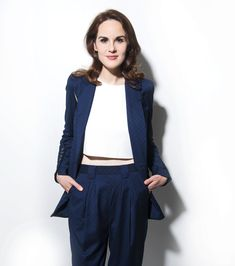 Michelle Dockery, Rashida Jones & Shaq and More of the Best Star Photos from the Turner Upfronts British Actresses, Actors & Actresses, Michelle Dockery, 2017 Photos, Downton Abbey, Photo Booth, Guys, My Style, Sweaters