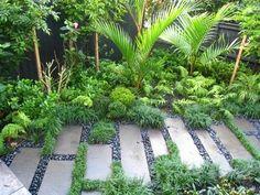 tropical garden 75 Beautiful Rain Garden You Should Have In Your Home Front Yard 680 GooDSGN Rain Garden Design, Tropical Garden Design, Tropical Landscaping, Garden Landscape Design, Landscaping With Rocks, Backyard Landscaping, Landscaping Ideas, Landscape Designs, Balinese Garden