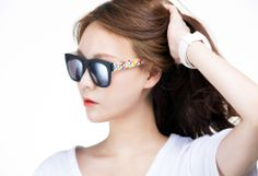 New COLOR SPARK La Digue No.2 mirror edition stylish wayfarer cool Sunglasses #ColorSpark #Rectangular