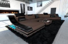 Home Furniture - Garden Supplies - If you are looking to buy fabric sectional sofas that look stylish and last long too then you get the best at Sofa Dream. Large Sectional Sofa, Sofa Set, Couches, Buy Fabric, Fabric Sofa, Designer Couch, Living Room Sofa Design, Luxury Living, Decoration