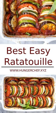 This Ratatouille recipe comes together quickly for a fresh weeknight dinner. Its a light & fresh dish thats gluten free vegan and paleo. Plus it freezes well so go ahead and make a double batch! Low Carb Recipes, Cooking Recipes, Healthy Recipes, Easy Recipes, Easy Italian Recipes, Beef Recipes, Vegetarian Italian Recipes, Crowd Recipes, Chicken Recipes