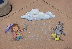 David zinn | Playful Chalk Art by David Zinn | athenna-design | Web Design | Design ...