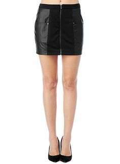 Sexy vegan leather exposed zipper skirt.  This little number can be paired with just about anything to make it a look all your own. $45 #GetYourStyleBack Official Store, Zippers, Vegan Leather, Your Style, Bb, Pairs, Number, Sexy, How To Wear