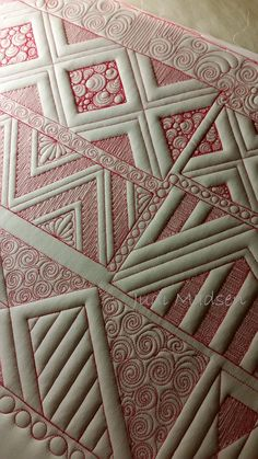 Quilting Rulers, Longarm Quilting, Free Motion Quilting, Machine Quilting Patterns, Quilt Patterns, Pillos, Whole Cloth Quilts, Quilting Tutorials, Quilting Ideas